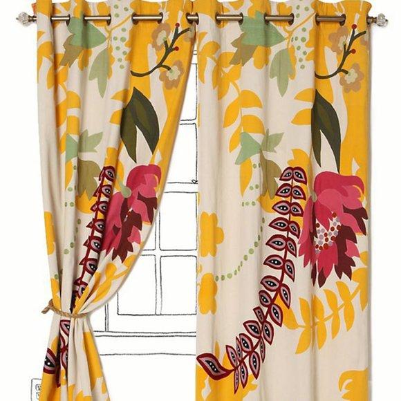 "SOLD!! Anthropologie Curtains - Finnia - 50"" X 63"""